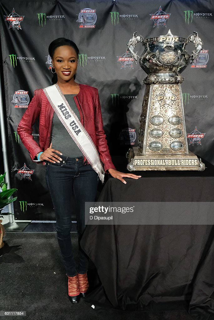 Miss USA 2016 Deshauna Barber attends the 2017 Professional Bull Riders Monster Energy Buck Off at the Garden at Madison Square Garden on January 6, 2017 in New York City.