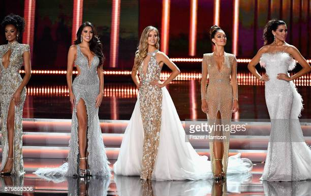 Miss USA 2017 Kara McCullough Miss Philippines 2017 Rachel Peters Miss Canada 2017 Lauren Howe Miss South Africa 2017 DemiLeigh NelPeters and Miss...