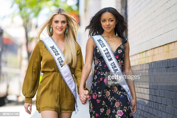Miss USA 2018 Sarah Rose Summers and Miss Teen USA 2018 Hailey Colburn are seen in SoHo on May 29 2018 in New York City