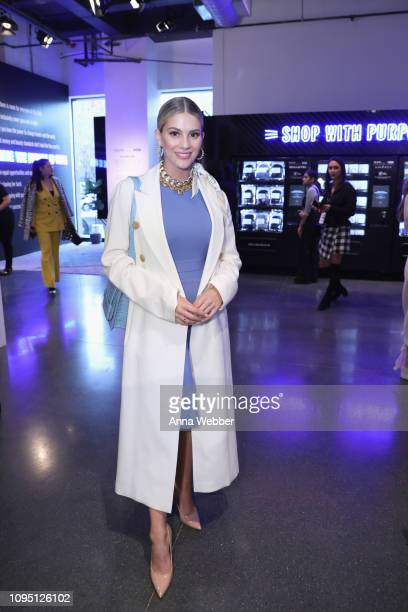 Miss USA 2018 Sarah Rose Summers shops with a purpose at the Visa Vending Machines during NYFW The Shows at Spring Studios on February 7 2019 in New...