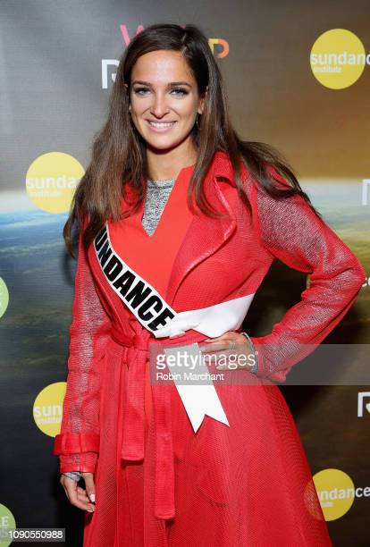 Miss USA 2019 Rachel Slawson attends the WeRiseUP Launch Event With Kevin Bacon during the 2019 Sundance Film Festival at TAO Nightclub on January 27...
