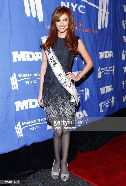 Miss USA Alyssa Campanella attends the 2012 Muscular Dystrophy Association Muscle Team Gala at Pier Sixty at Chelsea Piers on January 3 2012 in New...