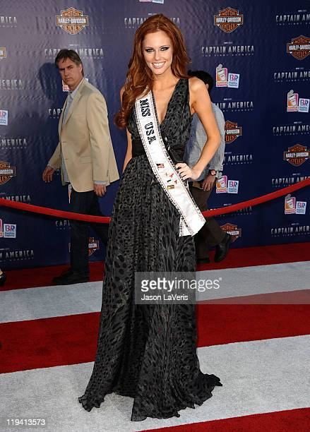Miss USA Alyssa Campanella attends the premiere of Captain America The First Avenger at the El Capitan Theatre on July 19 2011 in Hollywood California