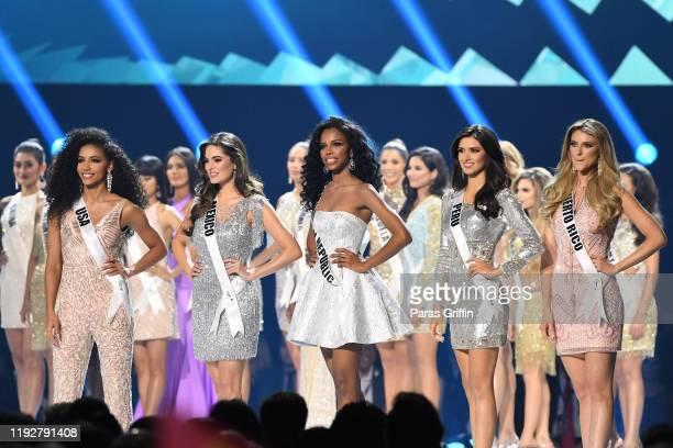 Miss USA Cheslie Kryst Miss Mexico Sofía Aragón Miss Peru Kelin Rivera Miss Dominican Republic Clauvid Daly and Miss Puerto Rico Madison Anderson...