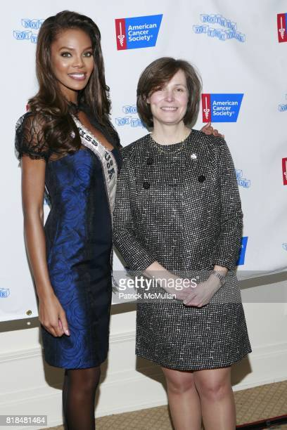 Miss USA Crystle Stewart Dr Alexandra Heerdt attend The American Cancer Society's Annual Mother of The Year Luncheon at Plaza Hotel on February 24...