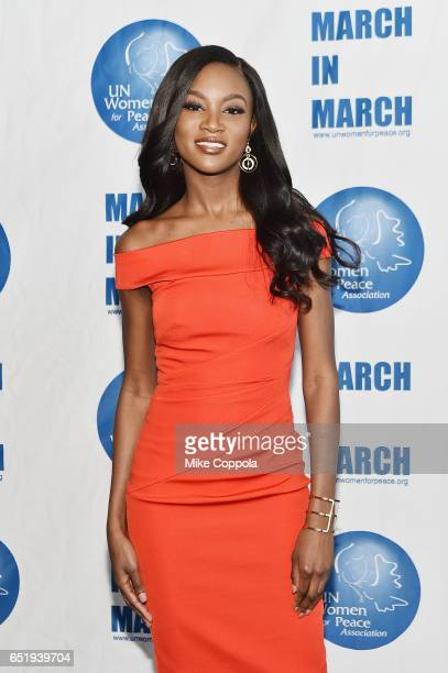 Miss USA Deshauna Barber 2017 UN Women for Peace Association March In March Awards Luncheon at ONE UN New York on March 10 2017 in New York City