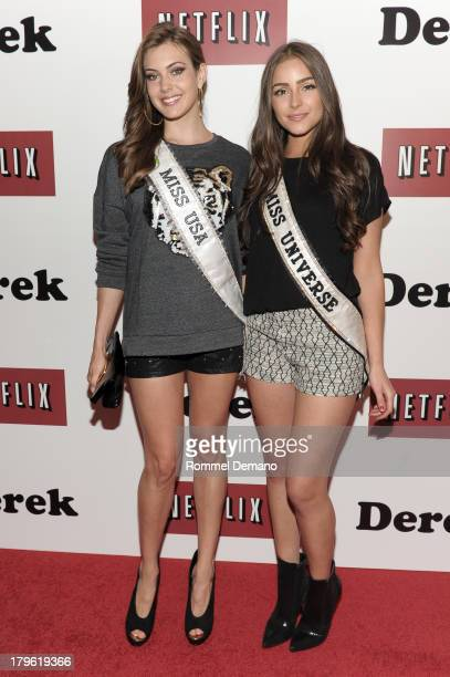 Miss USA Erin Brady and Miss Universe Oliva Culpo attend 'Derek' New York Premiere at MOMA on September 5 2013 in New York City