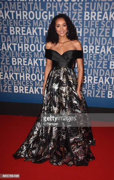 Miss USA Kara McCullough attends the 2018 Breakthrough Prize at NASA Ames Research Center on December 3 2017 in Mountain View California