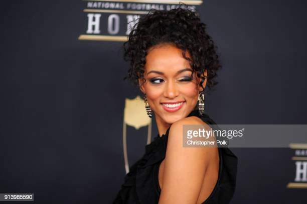 Miss USA Kara McCullough attends the NFL Honors at University of Minnesota on February 3 2018 in Minneapolis Minnesota