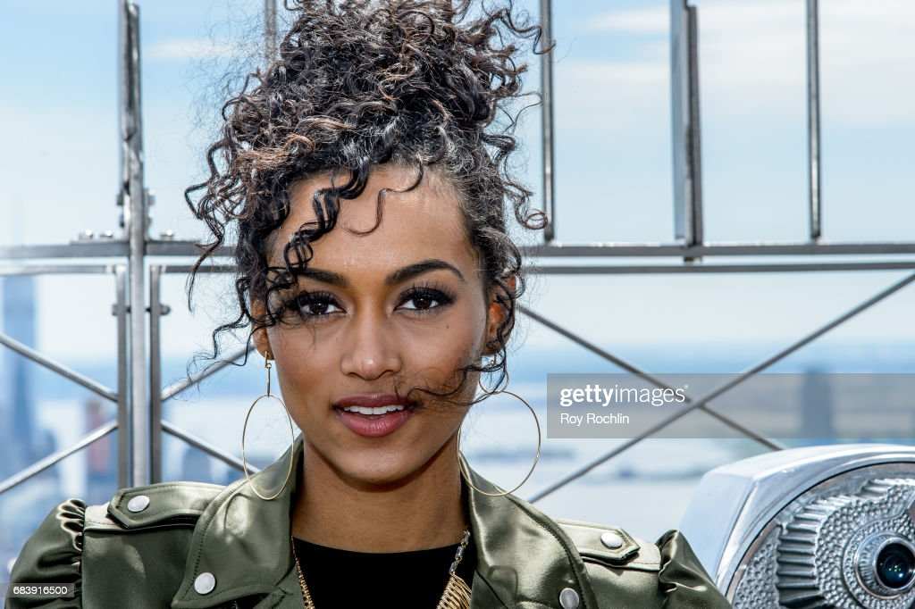 Miss USA Kara McCullough Visits Empire State Building
