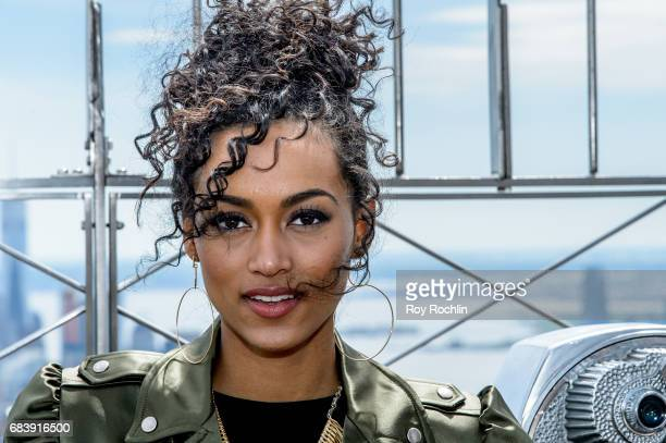 Miss USA Kara McCullough visits the Empire State Building on May 16 2017 in New York City