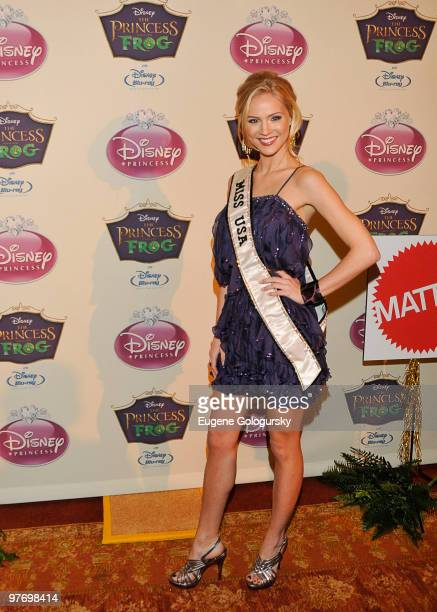 Miss USA Kristen Dalton attends Princess Tiana's official induction into the Disney Princess Royal Court and The Princess and the Frog DVD launch at...