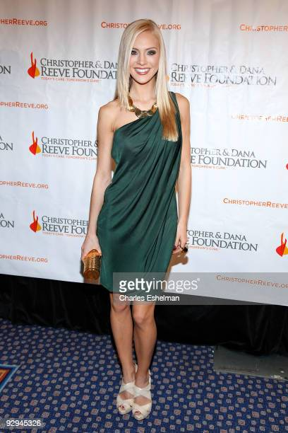 """Miss USA Kristen Dalton attends the Christopher & Dana Reeve Foundation's """"A Magical Evening"""" Gala at the Marriot Marquis on November 9, 2009 in New..."""