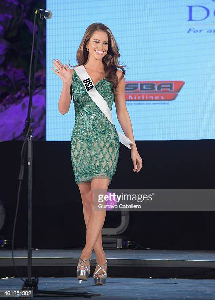Miss USA Nia Sanchez attends Miss Universe Welcome Event and Reception at Downtown Doral Park on January 9 2015 in Doral Florida