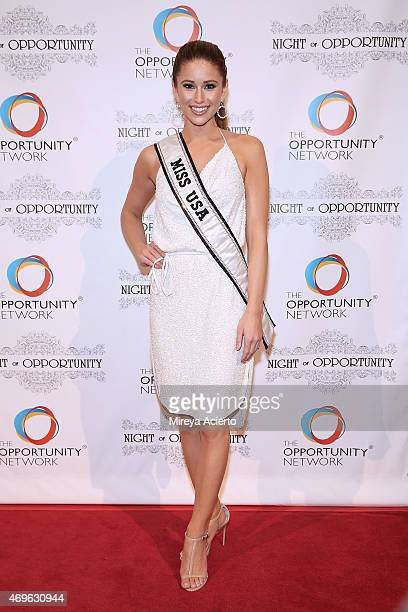 Miss USA Nia Sanchez attends the '8th Annual Night of Opportunity Gala' at Cipriani Wall Street on April 13 2015 in New York City
