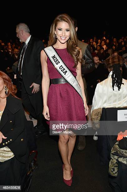 Miss USA Nia Sanchez attends the Academy of Art University fashion show during MercedesBenz Fashion Week Fall 2015 at The Theatre at Lincoln Center...