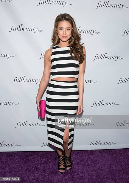Miss USA Nia Sanchez attends the FULLBEAUTY Brands Launch event at Gustavino's on April 2 2015 in New York City