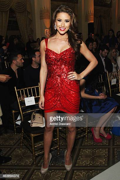 Miss USA Nia Sanchez attends the Sherri Hill fashion show during MercedesBenz Fashion Week Fall 2015 at The Plaza on February 19 2015 in New York City