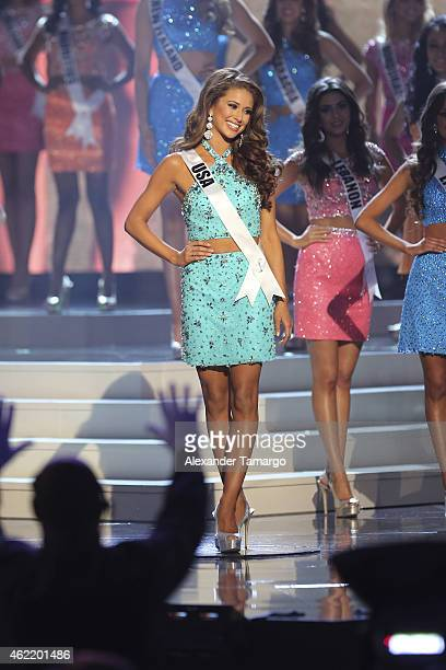 Miss USA Nia Sanchez onstage during The 63rd Annual Miss Universe Pageant at Florida International University on January 25 2015 in Miami Florida