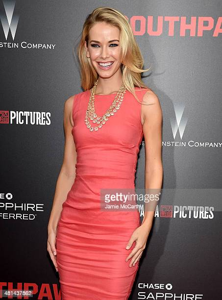 Miss USA Olivia Jordan attends the New York premiere of 'Southpaw' at AMC Loews Lincoln Square on July 20 2015 in New York City