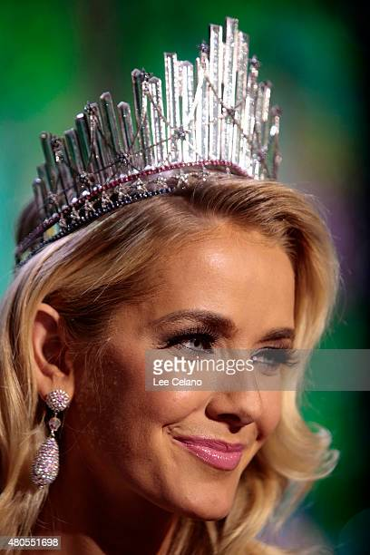 Miss USA Olivia Jordan of Oklahoma on stage at the 2015 Miss USA Pageant Only On ReelzChannel at The Baton Rouge River Center on July 12 2015 in...