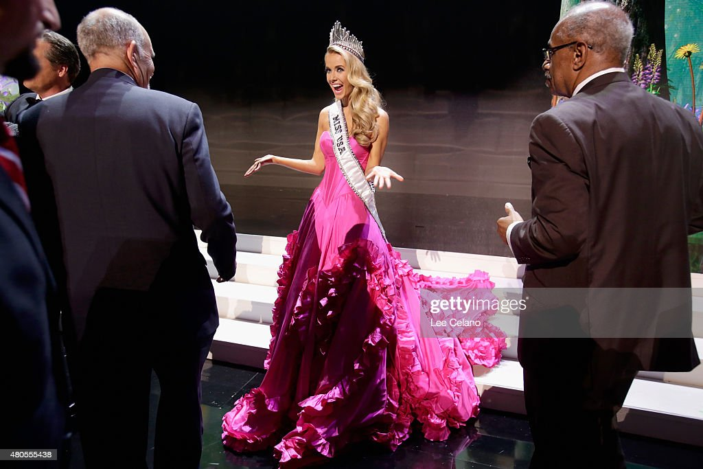 Miss USA Olivia Jordan of Oklahoma onstage at the 2015 Miss USA Pageant Only On ReelzChannel at The Baton Rouge River Center on July 12, 2015 in Baton Rouge, Louisiana.