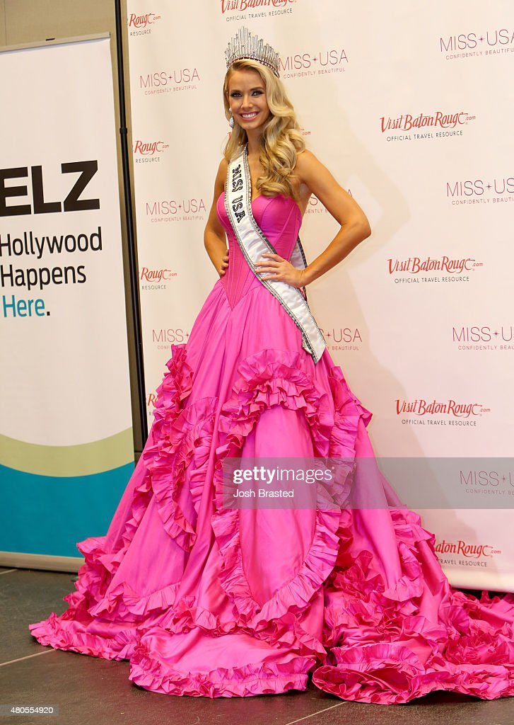 Miss USA Olivia Jordan of Oklahoma poses during the 2015 Miss USA Pageant Only On ReelzChannel Press Conference at The Baton Rouge River Center on July 12, 2015 in Baton Rouge, Louisiana.