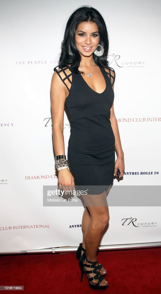 Miss USA Rima Fakih attends Antrel Rolle's welcoming celebration on June 3, 2010 in New York, New York.