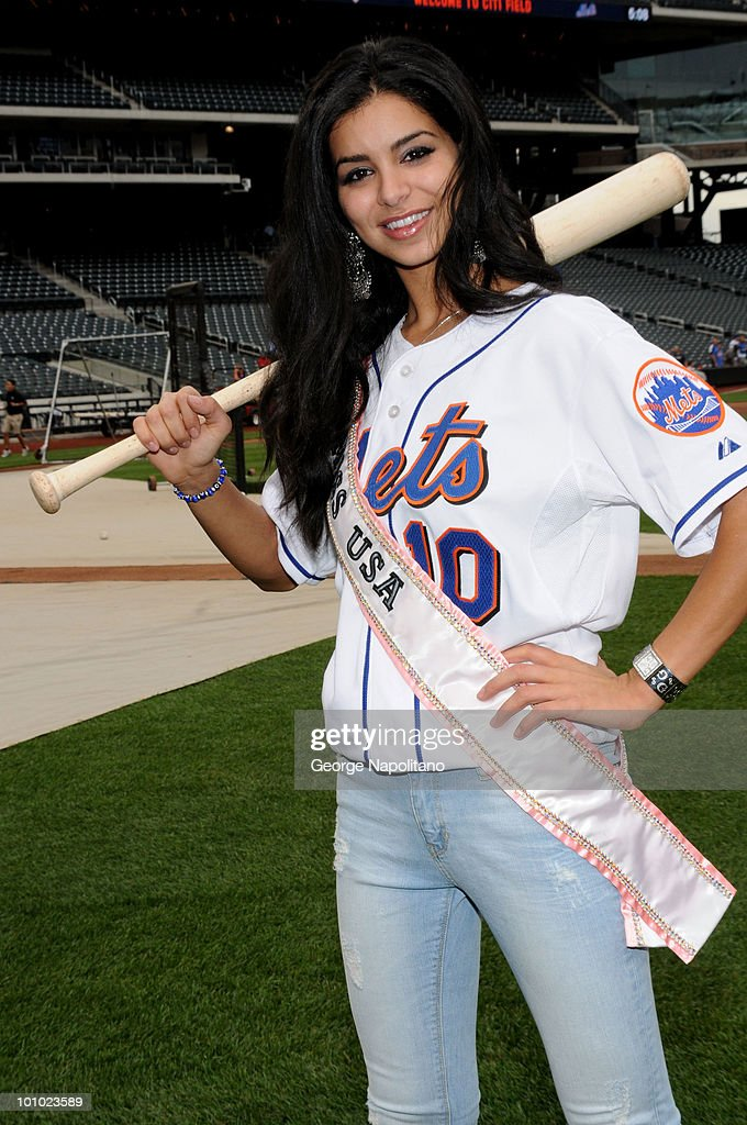 Miss USA Rima Fakih visits Citi Field on May 27, 2010 in the Flushing neighborhood of the Queens borough of New York City.