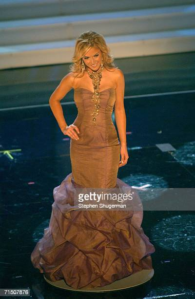 Miss USA Tara Conner is selected as a top five finalist during the Miss Universe 2006 pageant at the Shrine Auditorium on July 23 2006 in Los Angeles...