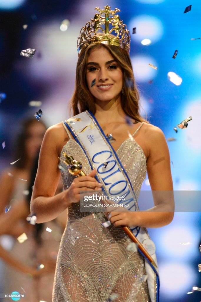 Valeria Morales (COLOMBIA 2018) Miss-valle-del-cauca-valeria-morales-reacts-after-being-crowned-miss-picture-id1043890676