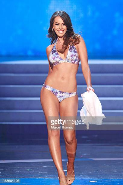 Miss Venezuela 2012 Irene Sofia Esser Quintero competes in the swimsuit competiton during the 2012 Miss Universe Pageant at Planet Hollywood Resort...