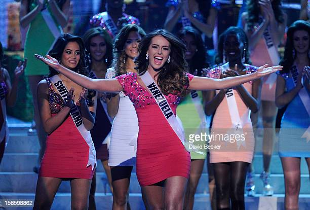 Miss Venezuela 2012 Irene Sofia Esser Quintero is named a top 16 finalist during the 2012 Miss Universe Pageant at PH Live at Planet Hollywood Resort...