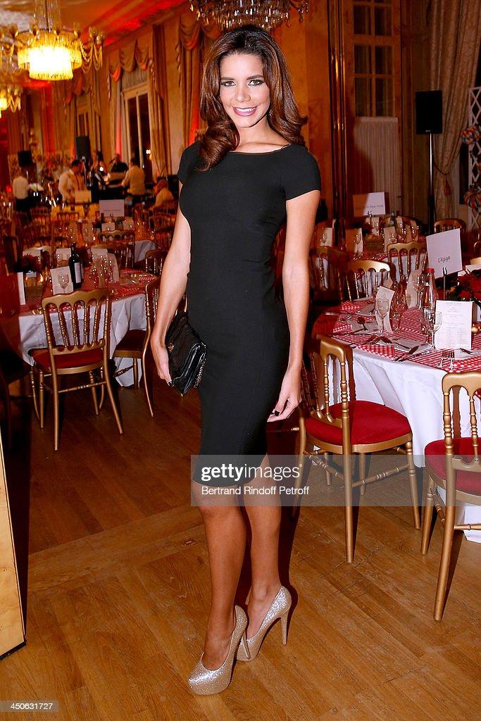 Miss Venezuela 2013, Yulibeth Angarita attends 'Les Puits du Desert' Charity Gala at Cercle des Armees on November 19, 2013 in Paris, France.
