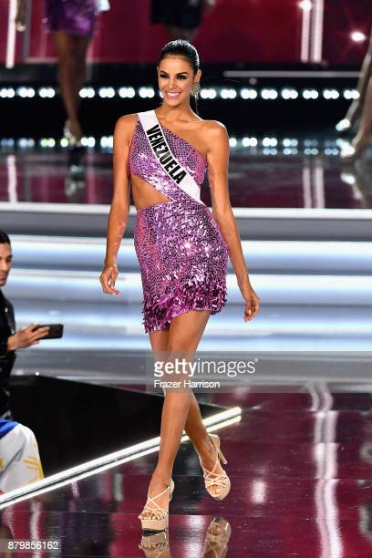Miss Venezuela 2017 Keysi Sayago competes during the 2017 Miss Universe Pageant at The Axis at Planet Hollywood Resort Casino on November 26 2017 in...