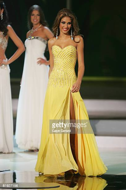 Miss Venezuela Dayana Mendoza is crowned Miss Universe 2008 on stage during the 57th Annual Miss Universe Competition at the Crown Convention Centre...