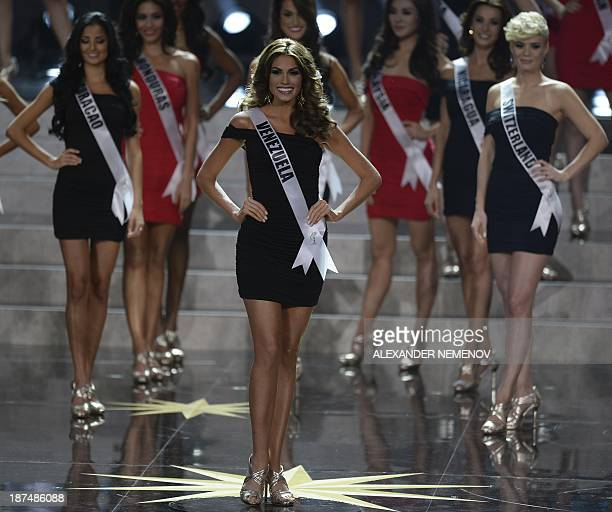 Miss Venezuela Gabriela Isler competes during the 2013 Miss Universe competition in Moscow on November 9 2013 Gabriela Isler a 25yearold Venezuelan...