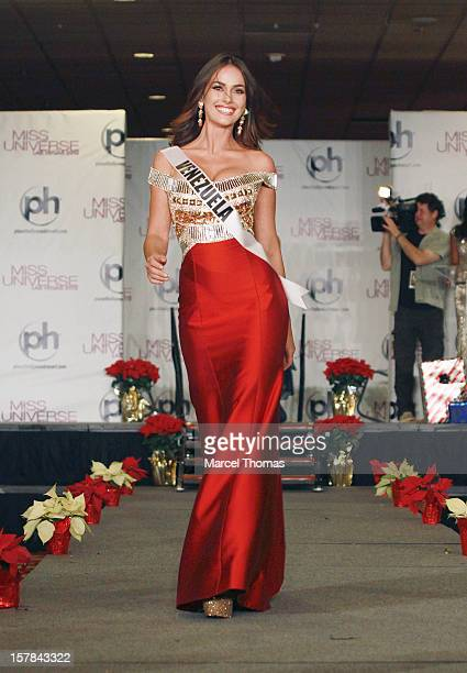 Miss Venezuela Irene Sofia Esser Quintero walks the runway as part of the 2012 Miss Universe Pageant's Official Welcome Event at Planet Hollywood...
