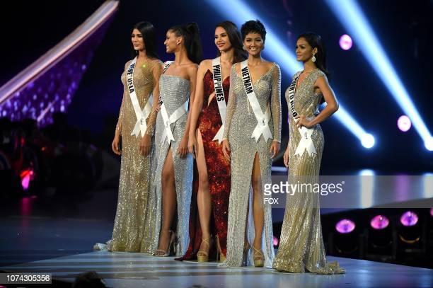 Miss Venezuela Sthefany Gutierrez Miss South Africa Tamaryn Green Miss Philippines Catriona Gray Miss Vietnam H'Hen NiÍ and Miss Puerto Rico Kiara...