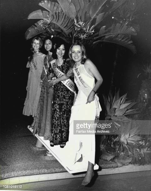 Miss Victoria Gloria Krope Miss Singapore Charity Princess Rugayah Dalair Miss Singapore Charity Queen Florence Leong and Miss South Australia Andrea...