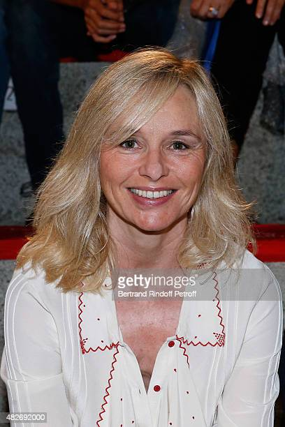 Miss Vincent Bollore Actress Anais Jeanneret attends the 'Madame Foresti' show of Humorist Florence Foresti during the 31th Ramatuelle Festival Day 1...