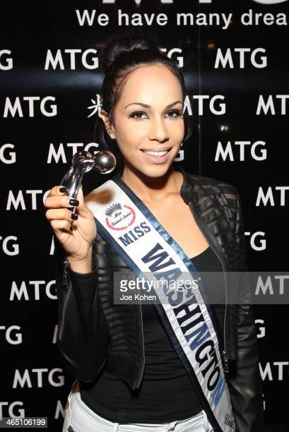 Miss Washington United States 2013 Diane Meers attends the GRAMMY Gift Lounge during the 56th Grammy Awards at Staples Center on January 25 2014 in...