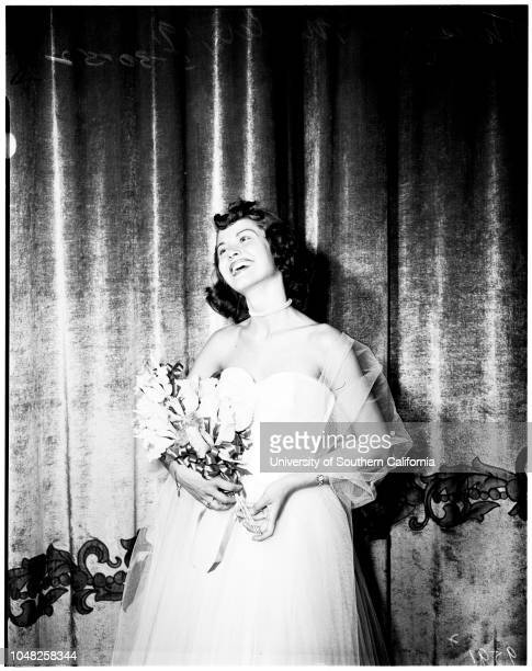 Miss Welcome to Long Beach' contest winner 30 May 1952 Miss Jeri Miller 19 years Helen Weir Dolores Tregarthen Jeannette LeVere Loubelle Lewis Jean...