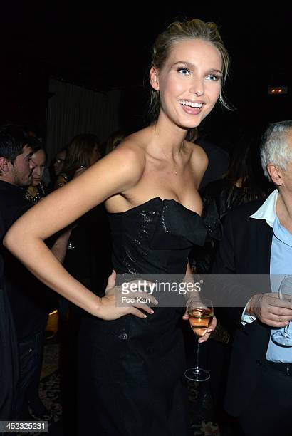 Miss Wonderbra 2014 Adriana Cernanova attends the Wonderbra 2Oth anniversary party at Tres Honore Bar on November 27 2013 in Paris France
