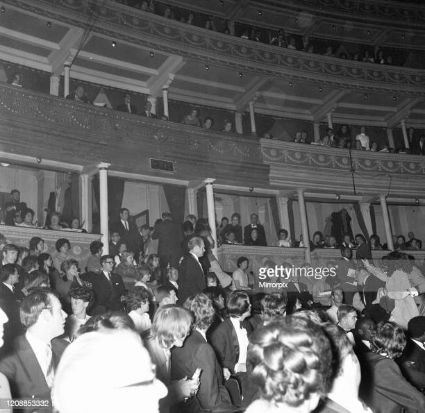 Miss World 1970 Competition at the Royal Albert Hall, London, is disrupted by members of the Women's Liberation Movement, Friday 20th November 1970.