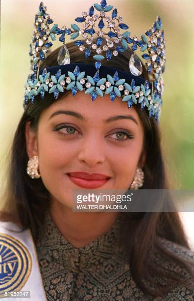 Miss World 1994 Aishwarya Rai of India poses for photographers a day after winning her crown in Sun City 20 November 1994