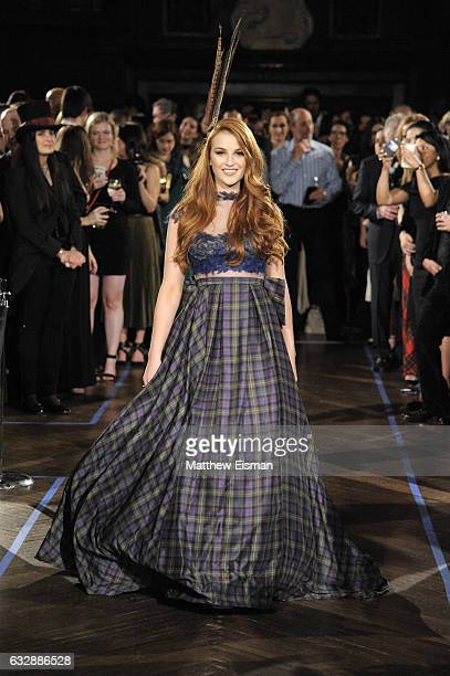 Miss World 2016 Lucy Kerr walks the runway during Dressed To Kilt Ball Fashion Show presented by Usquaebach Scotch Whisky The High Line Hotel...