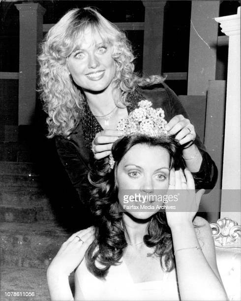 Miss World Australia 1978 at the WaltonsThe winner of the Miss World Australia Miss Denise Coward being crowned by Miss World Mary AnnCatrin Stavin...