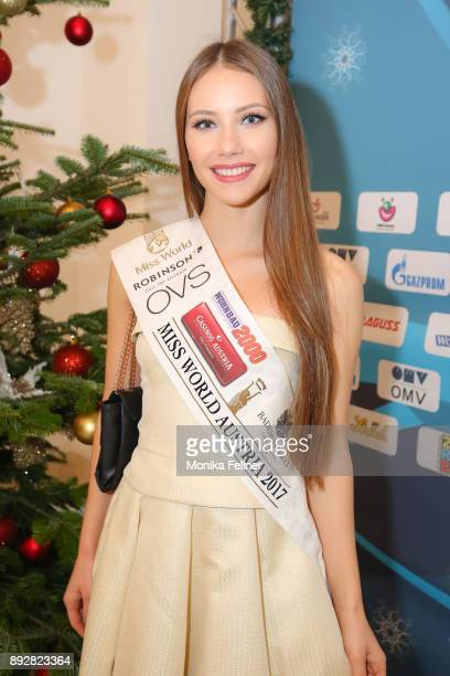Miss World Austria Sarah Chvala attends the Energy for Life Christmas gala for Children at Hofburg Vienna on December 14 2017 in Vienna Austria