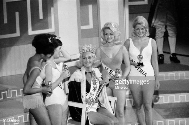 Miss World Competition Lyceum Ballroom London Friday 19th November 1965 Miss United Kingdom Lesley Langley is crowned Miss World Also pictured Miss...